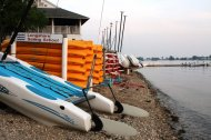 Catamarans, Kayaks, Paddleboards and Lasers at Longshore Sailing School are all for sale at the end of each summer. Photo by John Kantor.