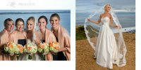 hamptons ny wedding montauk yacht club bride preparations portrait fall navy peach bridesmaids veil