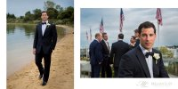 hamptons ny wedding montauk yacht club groom beach sand preparations portrait fall