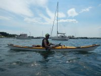 Kayak Dave in Newport Harbor (Photo Credit CoRay)