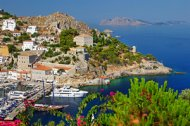 The beautiful island of Hydra in the Greek Saronic Islands