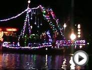 Huntington Harbor NY 2012 Lighted Boat Parade - Viewed