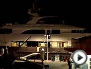 Mega Yachts Gather - Night Vista - Marina Del Rey