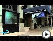 New York Health & Racquet Club Interactive Gesture Window