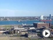 Ships passing on the Detroit River