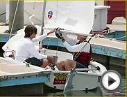 Zac Efron getting some sailboat lessons at Marina del Rey